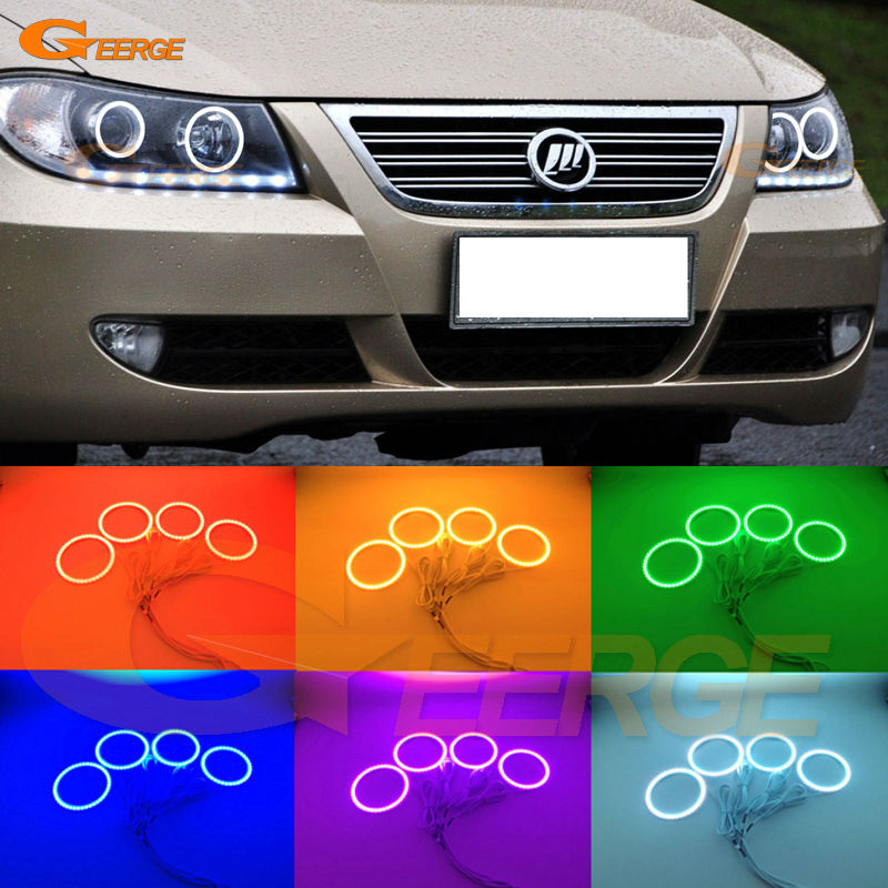 For Lifan 620 Solano 2008 2009 2010 2012 2013 2014 Excellent Angel Eyes Multi-Color Ultra bright RGB LED Angel Eyes kit for lifan 620 solano 2008 2009 2010 2012 2013 2014 excellent ultra bright illumination smd led angel eyes halo ring kit