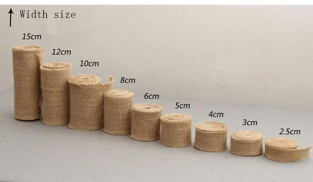 60 mm de Ancho Envolver Regalos Alrededor de 2 m//Rollo PandaHall Elite 8 Rollos de Cinta de arpillera Colorida para decoraci/ón de Manualidades