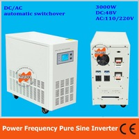 Power frequency 3000W pure sine wave solar inverter with charger DC48V to AC110V220V LCD AC by Pass AVR