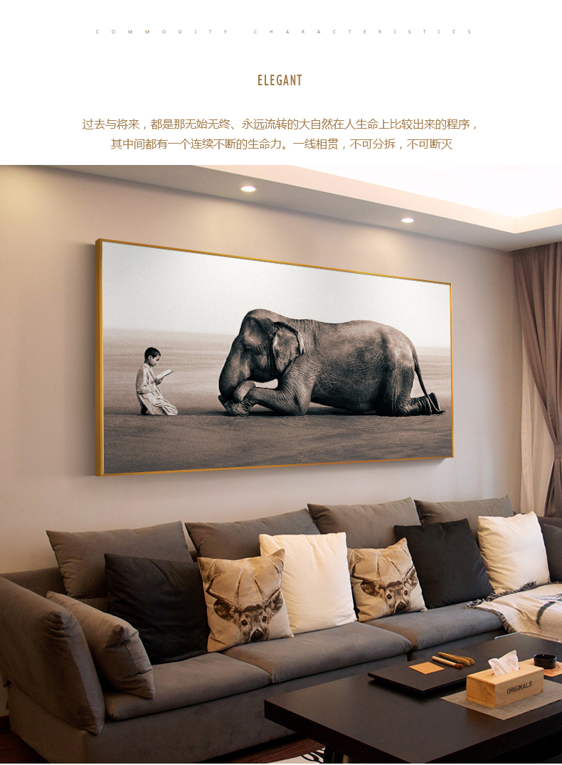 Buddha Modern Canvas Painting Nordic Posters And Prints Zen Home Decoration  Elephant Religion Art Wall Picture For Living Room