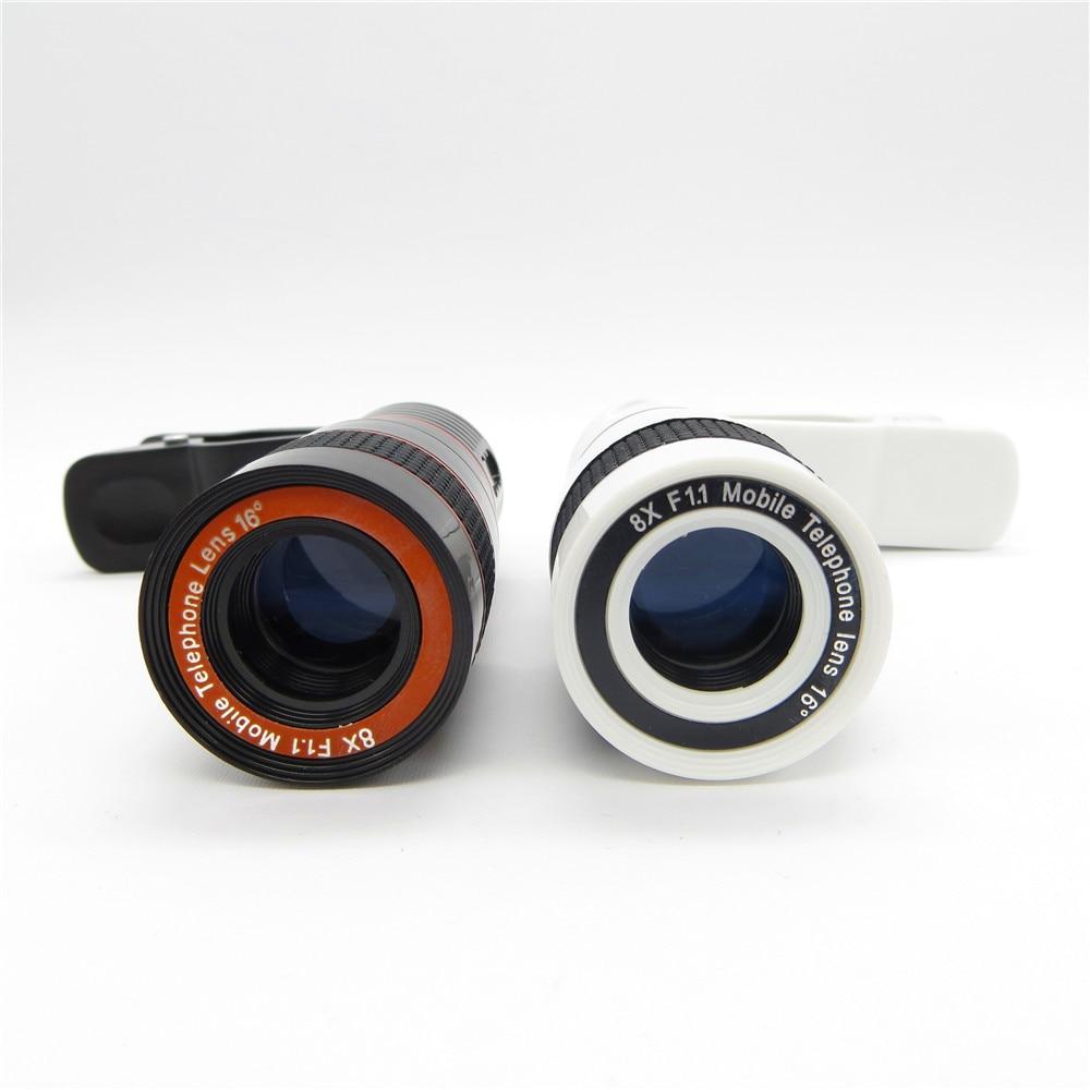 Universal 8X Zoom óptico Telescopio Cámara Lente Clip Teléfono - Accesorios y repuestos para celulares - foto 6