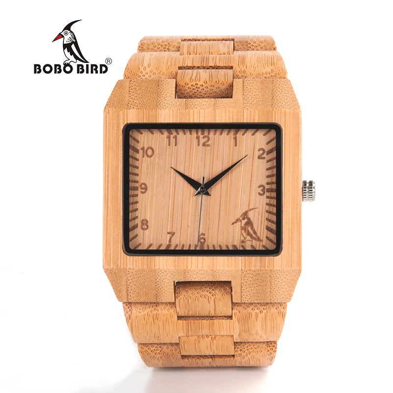 BOBO BIRD L22 Business Watches Mens top brand luxury Bamboo Wristwatch in Gift Box bobo bird brand design i29 nature bamboo watch mens watches top brand luxury green second hand wristwatch with bamboo band