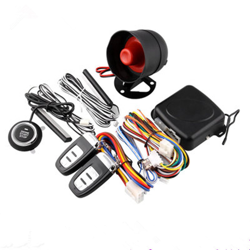 Trumpet Car Truck Alarm System PKE Passive Keyless Entry Remote Auto Starter Push Button ABS One button start system fuzik keyless go smart key keyless entry push remote button start car alarm for honda accord odyssey crv civic jazz vezel xrv