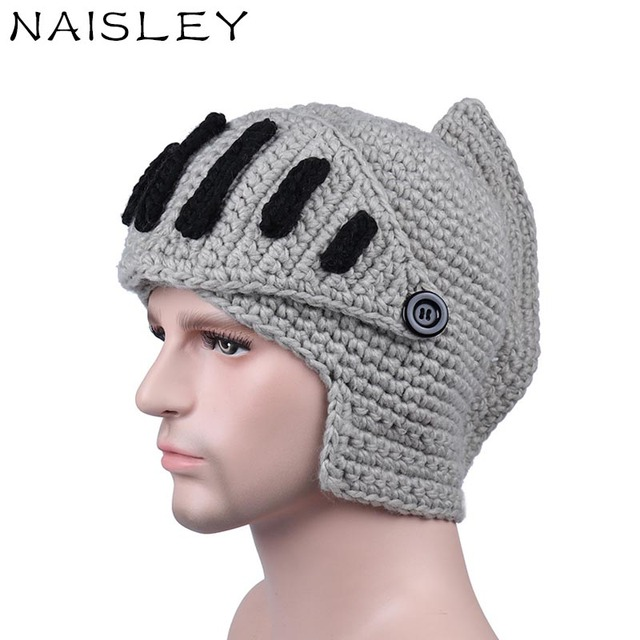c9c3754ce6f95 NAISLEY Fashion Handsome Winter Hat Roman knight knit Hat Warm Men Cap  Baggy Caps For Men