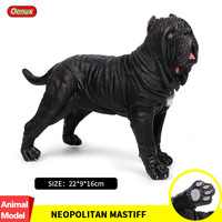 Oenux Italy Black Neapolitan Mastiff Action Figures Big Strong Guard Dog Model Figurine PVC Collection Lifelike Toy For Kids