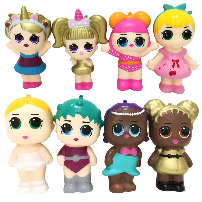 4 Pics/Set Squishy PU Toys Surprice Dolls Soft Mini Slow Rising Doll Figures 13CM Stress Relief Funny Gift Decoration