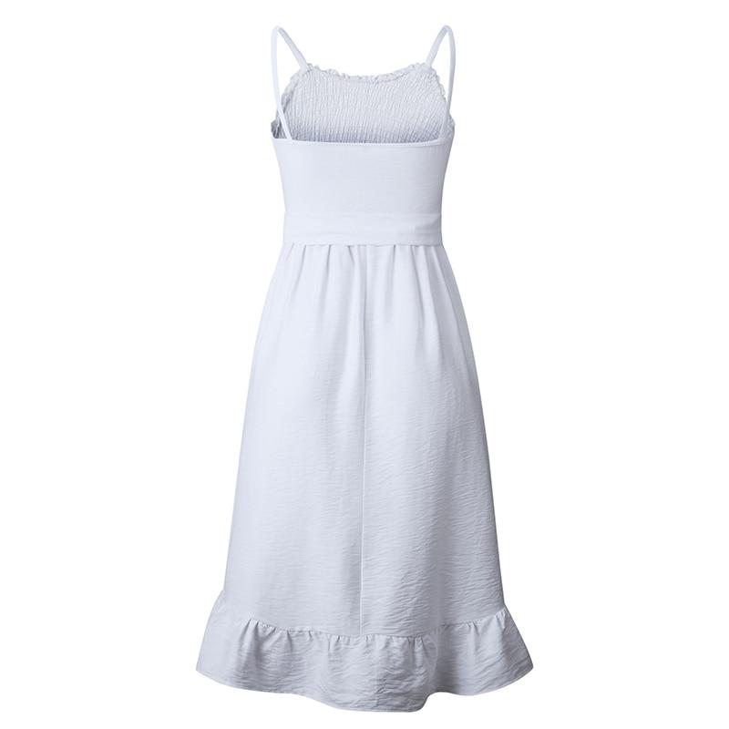 ruffles pleated boho summer beach dress (13)