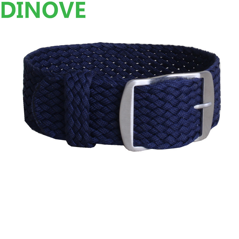 DINOVE 1 PCS Wholesale Fashion Men and women 20mm 22mm 24 mm NATO nylon WATCHBAND Navy
