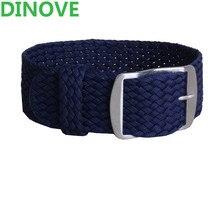 DINOVE 1 PCS/En Gros De Mode Hommes et femmes 20mm 22mm 24mm NATO nylon BRACELET Marine étanche nylon perlon montre bracelet