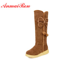 Autumn and winter snow boots Tall warm womens over the knee calf