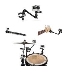 Para GoPro Accesorios Cámara Jam Música Ajustable Clip de Montaje Soporte de Abrazadera Para Gopro Hero4 3 + Xiaomi/4 k Tambor guitarra Instrumento