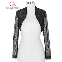Belle Poque Stock Womens Ladies Long Sleeve Cropped Shrug White Black Lace Bolero Wedding Accessories Plus