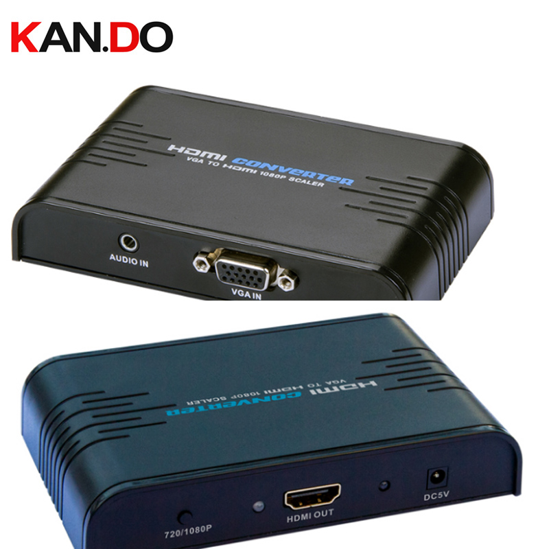 352a VGA+Audio to HDMI 1080P Scaler vga TO hdmi converter HDMI video converter upscale VGA to digital HDMI цена