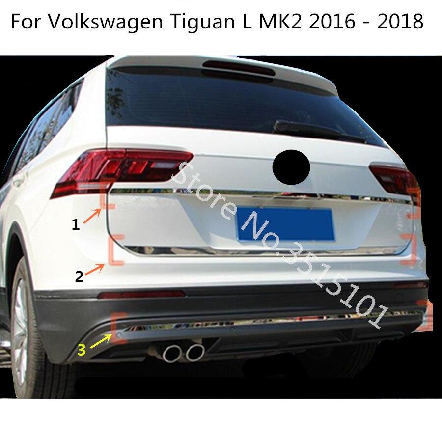 Voiture bâton corps couverture arrière porte hayon cadre lampe plaque garniture pour Volkswagen VW Tiguan L TiguanL MK2 2016 2017 2018