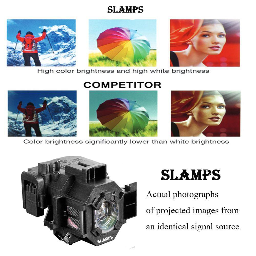 Consumer Electronics ... Home Audio & Video Equipments ... 32815067538 ... 2 ... Compatible EMP-S5 EMP-S52 EMP-T5 EMP-X5 EMP-X52 EMP-S6 EMP-X6 EMP-260 EB-S6 EB-S6+ Projector  lamp ELPL41 V13H010L41 for Epson ...