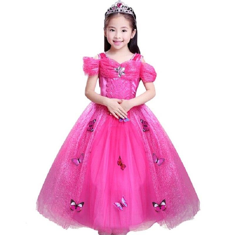 Bambino Della Ragazza Anna Elsa Vestito di Alta Qualità Della Principessa  Cenerentola Fancy abbigliamento per bambini 85478988dc99
