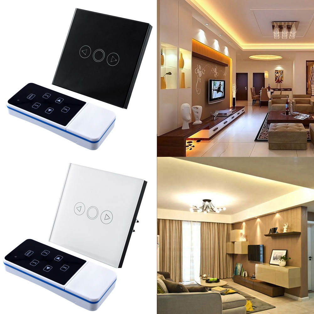 1 Gang Light Lamp Home Office Touch Sensor Switch Remote Efficient Dimmer White Crystal Glass Panel