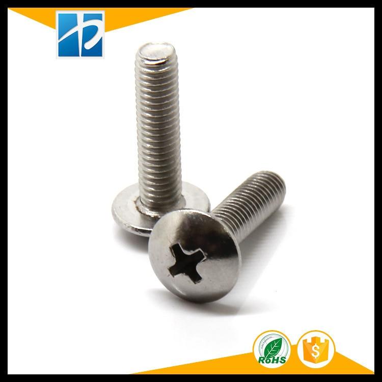 Купить с кэшбэком (20 pc/lot) metric thread M4,M5,M6 *L Stainless Steel Phillips Truss Head model Electric machine diy Screw