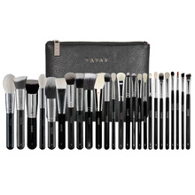 YAVAY 25 PENNELLI MAKEUP BRUSHES PROFESSIONAL Cosmetics Tool Artist Bag Kit Set Eye Full Bag Complete Eye Set 25 Face Brushes