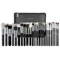YAVAY 25 PENNELLI MAKEUP BRUSHES PROFESSIONAL Cosmetics Tool Artist Bag Kit Set Eye Full Bag Complete