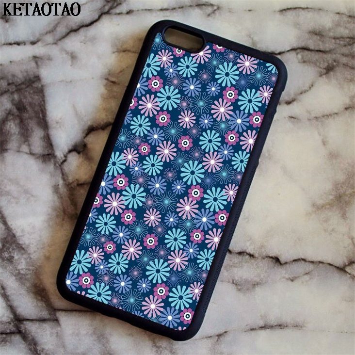 KETAOTAO Animale sveglio Carpe Koi Flower Phone Cases for iPhone 5C 5S 6 6S 7 8 Plus X for Samsung Case Soft TPU Rubber Silicone