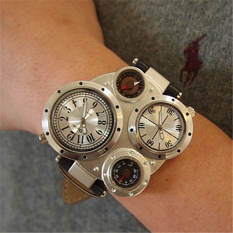 OULM 9415 Moda Relojes de Cuarzo Hombres Marca Original Cara Grande - Relojes para hombres - foto 6