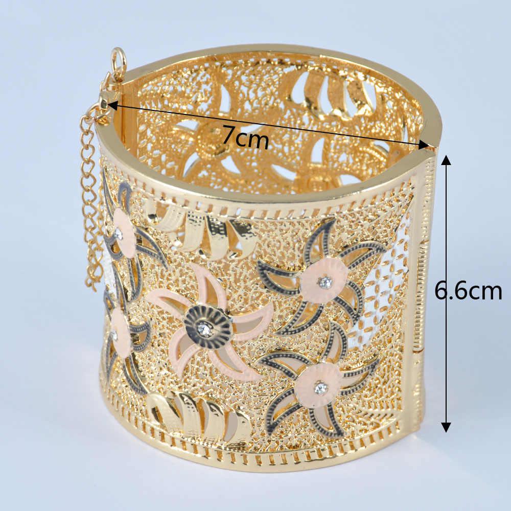 Тип ювелирных изделий Женский Браслет-манжета покрытие с 24K золото новый модный браслет арабский индийский свадебные ювелирные изделия