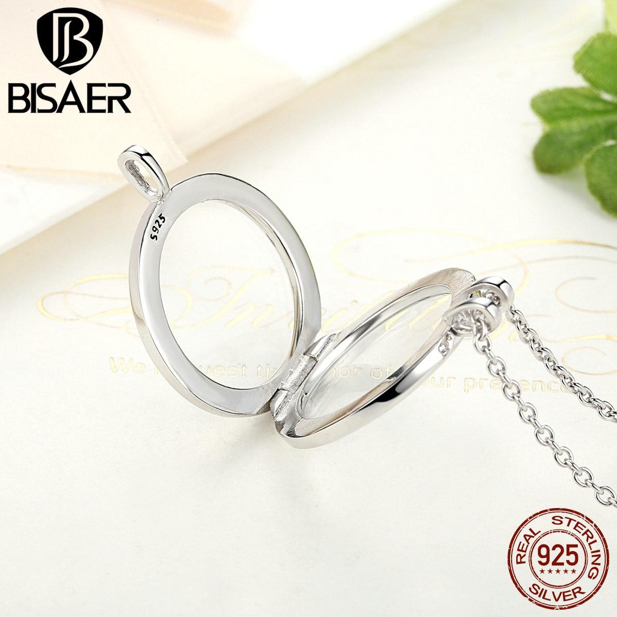 Image 5 - Memory Pendant Necklace Genuine 100% 925 Sterling Silver Medium  Floating Locket Necklaces