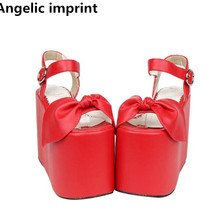 Sandals Pumps Wedges Heels Cosplay-Shoes Angelic Imprint Woman Lady Super-High 13cm Girl