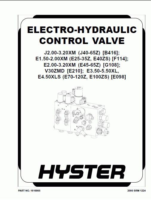 Hyster Class 3 Electric Motor Hand Trucks Repair Manuals