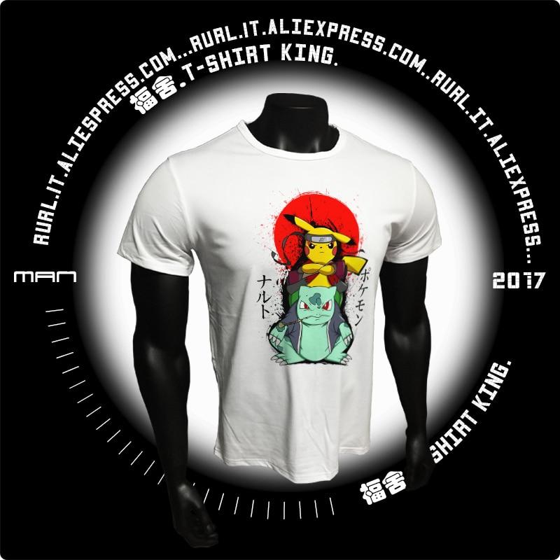 RURL Pokemon Go 2017 Uomo T-Shirt Moda Pikachu Stitch Top Pikachu In Thor Armatura Stampato t shirt Manica Corta Hipster Fumetti