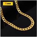 Высокое качество 18 К настоящее позолоченные Хип-Хоп мужская Панк стиль Рэп Круглый 60 СМ Цепи Ожерелье мужчины Рок Рэп Ожерелье ювелирные изделия