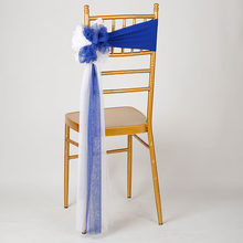 100pcs/lot Wedding Chiavari Chair Decoration White/Red Chair Sashes Stretch Lycra Chair Band For Hotel Banquet Party Decor(China)