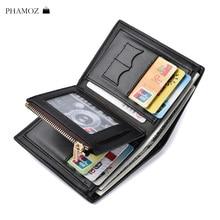Men Wallet Leather Luxury Brand Short Soft Credit Cards RFID