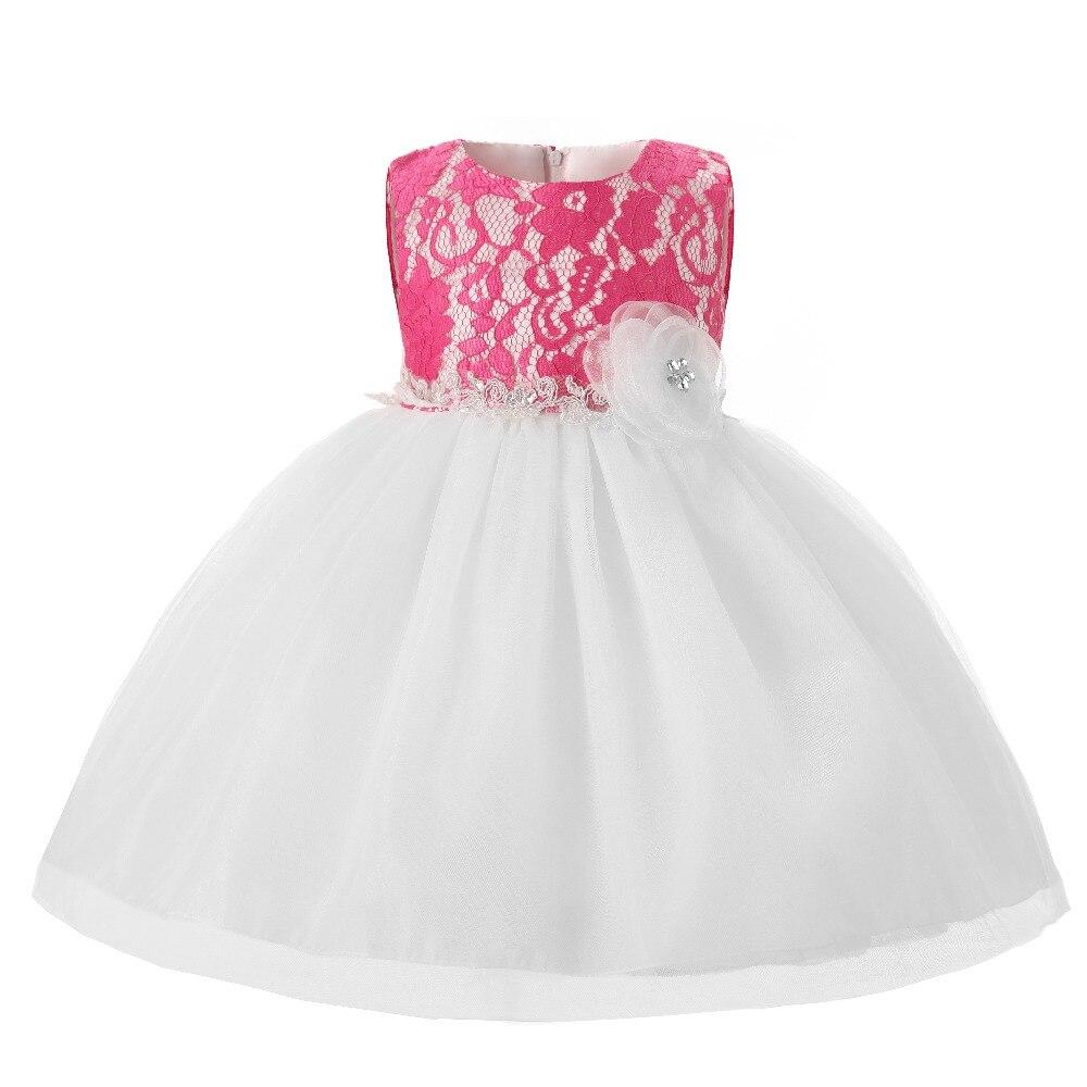 Newborn flower baby girl dress wedding baptism princess for Baby wedding dresses newborn