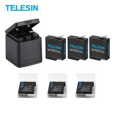 Pour GoPro Hero 5/6/7/8 Blcak batterie avec trois Ports USB chargeur Kit pour Go Pro Hero 8 7 noir Action Sport caméra accessoires