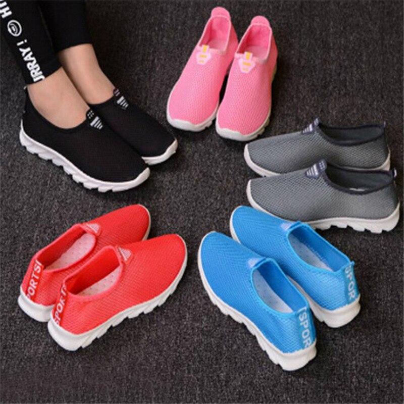 Respirant Paire Casual 1 darkpink pink Tenis Femelle Sneakers grey Femmes Air D'été blue Mesh Black De Vulcaniser Chaussures Mode Odwdqr
