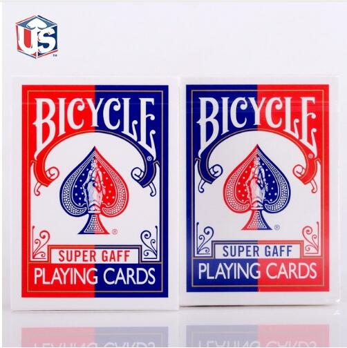 1 pc Bicycle Super Gaff Deck Blue&Red Magic Cards Playing Card Poker Close Up Stage Magic Tricks for Professional Magician Toys