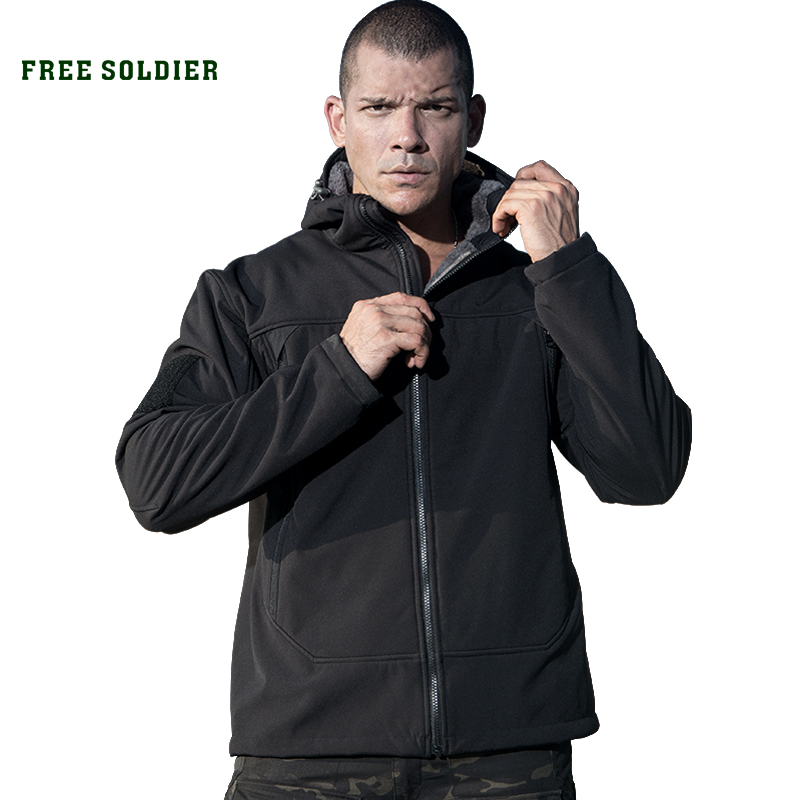 Jacket Softshell Free-Soldier Cloth Military Fleece Tactical Hiking Outdoor Sports Camping