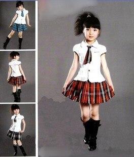 22976ef6715b Cute Little Girl Choral costumes School uniform skirt Princess Dress Party  Halloween Cosplay Costume