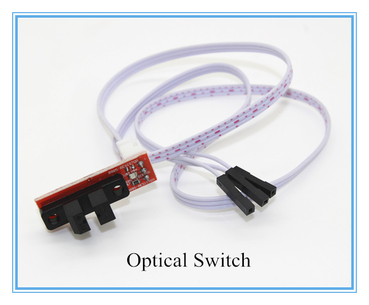 1pcs Optical Endstop Light Control Limit Optical Switch for 3D Printers RAMPS 1.4 with cable Free Shipping new opto optical endstop end stop switch cnc optical endstop using tcst2103 photo interrupter