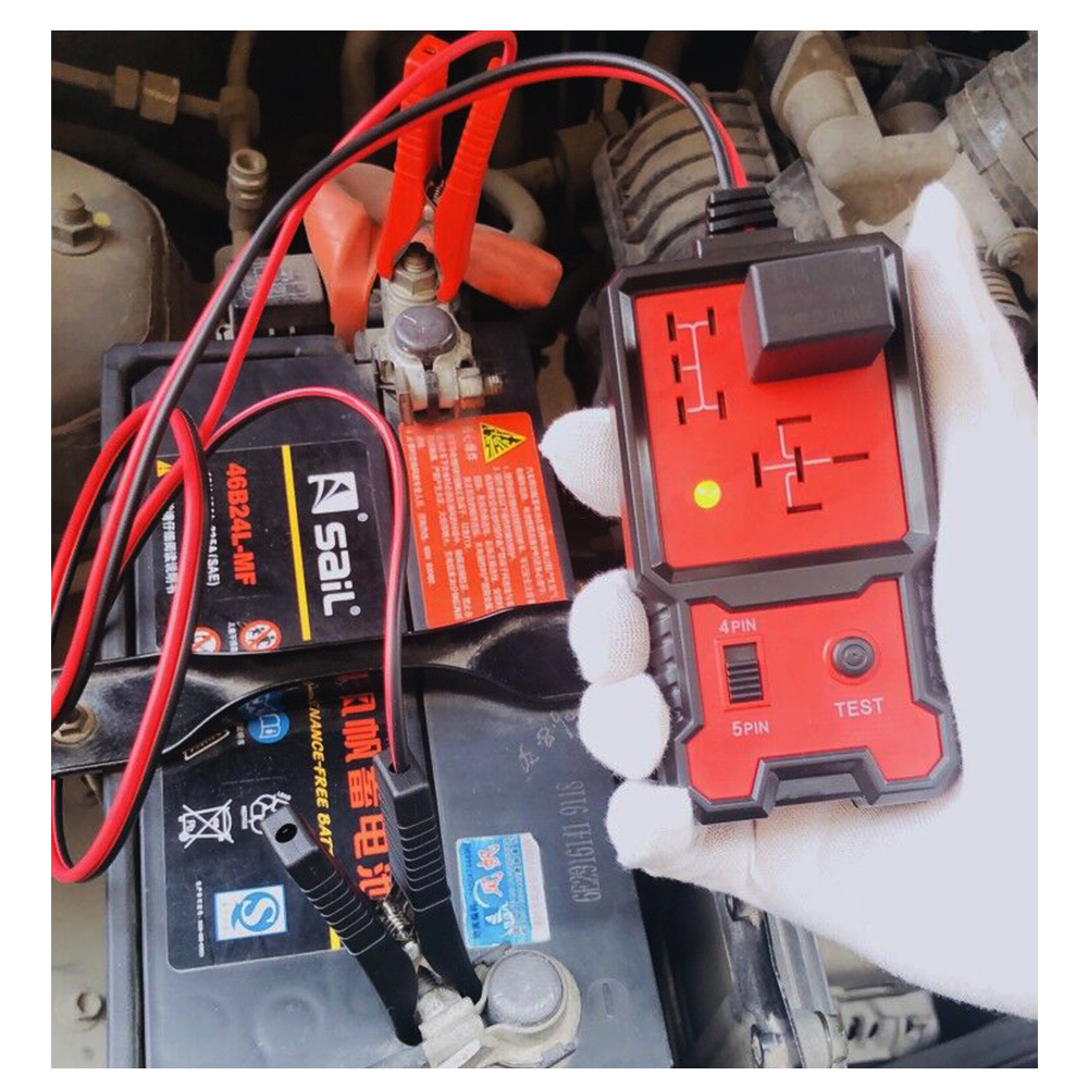 Newest 12V Cars Relay Tester Relay Testing Tool Auto Battery Checker Accurate Diagnostic Tool Portable Automotive Auto