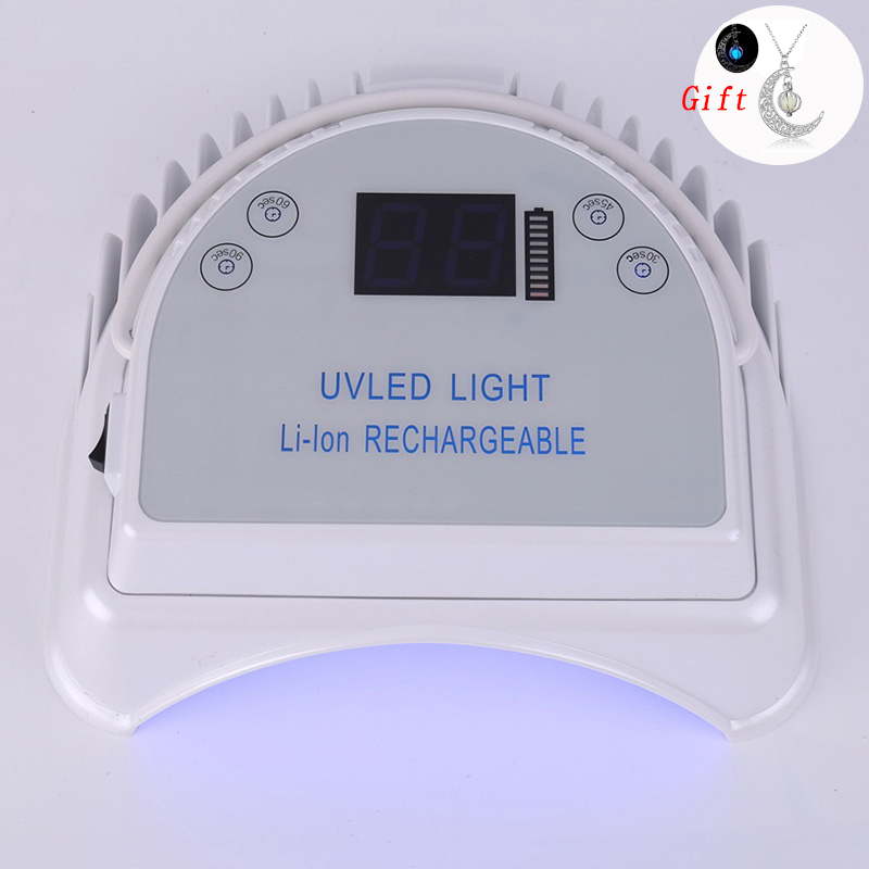 64W 48W Lâmpada UV Do Prego LEVOU Cura Prego Secador de Lâmpada Para Manicure Bateria Recarregável Sem Fio Para Todos Os Géis polonês Lâmpada Portátil