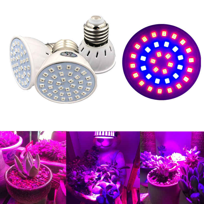 LED E27 Full Spectrum Led Grow Light 220V Red Blue UV IR Growing Lamp For Greenhouse Hydroponics Flowers Plants Vegetables S10