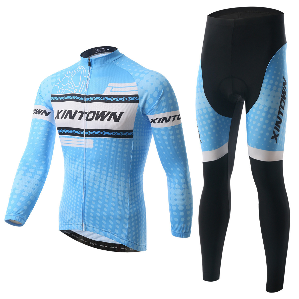 XINTOWN Cycling Jersey Set Long Sleeve Bicycle Clothing Maillot Ciclismo Bike Clothes Cycling Set For Men Spring Jersey Sets 2017 mavic maillot ciclismo zebra pattern men personality long sleeve cycling breathable bike bicycle clothes polyester s 6xl