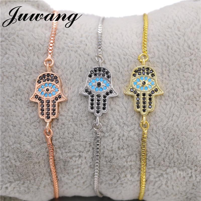 JUWANG-Bracelet en fil rouge tressé à la main, mal œil turc, porte-bonheur, Hamsa, bijoux, cadeau