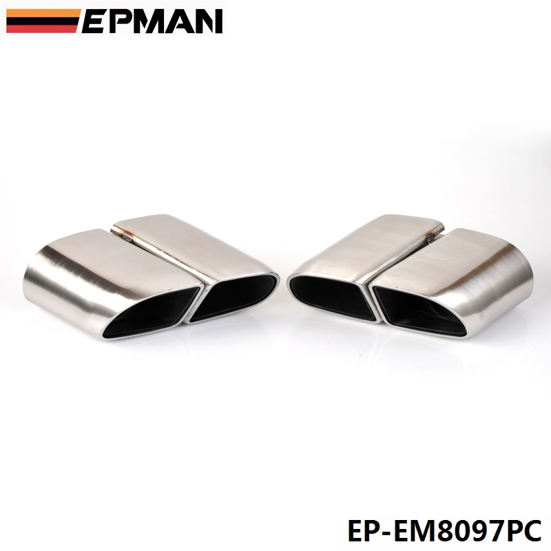 Hot!2pcs/set Modified Car Vehicle Exhaust Tail Muffler Tip Stainless Steel Pipe For Porsche 14 Panamera TURBO EP-EM8097PC цены