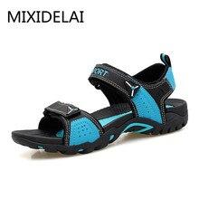 MIXIDELAI/уличные модные мужские сандалии; Летняя мужская обувь; Повседневная обувь; дышащие пляжные сандалии; Sapatos Masculinos; большие размеры 35-46