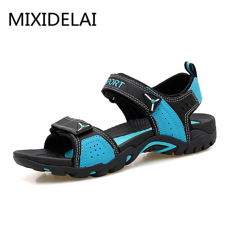 MIXIDELAI Outdoor Fashion Men Sandals Summer Men Shoes Casual Shoes Breathable Beach Sandals Sapatos Masculinos Plus Size 35-46 38 46 plus size summer shoes men sandals leather shoes men casual summer sandals men summer shoes
