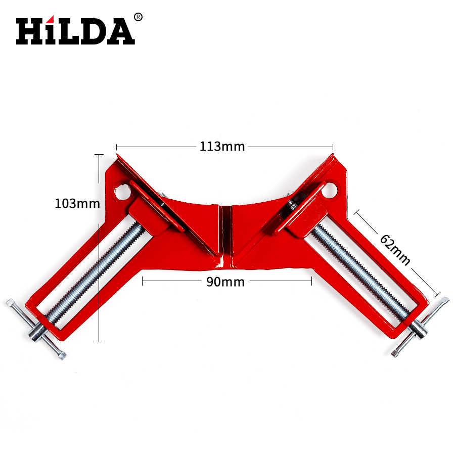 HILDA 4 sztuk wielofunkcyjny 90 stopni ścisk narożny 90 stopni ramki na zdjęcia zacisk narożny 100MM ścisk kątowy uchwyty do narożników obróbki drewna